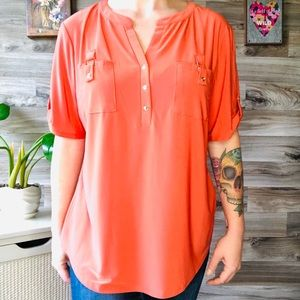 Tops - Women's per Sumption concept Orange top